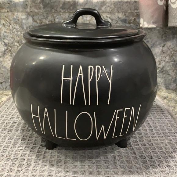 Rae Dunn HAPPY HALLOWEEN Cauldron